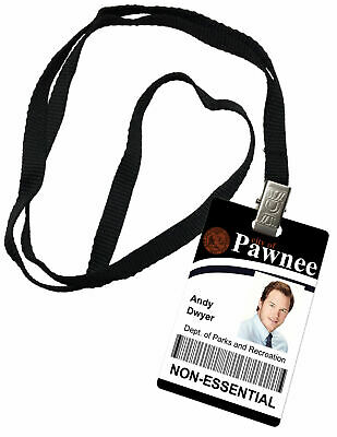 Andy Dwyer Parks and Recreation Novelty ID Badge Prop Costume