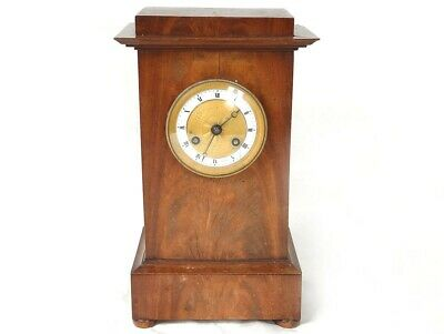 Pendulum Terminal Mahogany Bronze Golden Paris Clock I Empire 19th Century