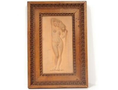 Sculpture Figural Terracotta La Source Ingres Naked Woman Nymph 19th