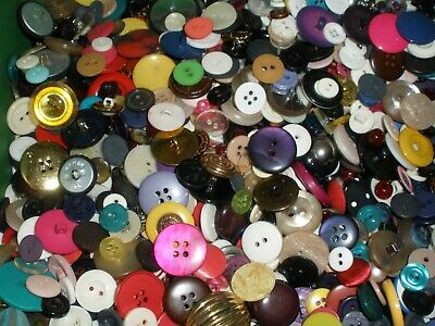12 lbs buttons mixed lot multi color plastic sewing craft vintage 2H 4H shank