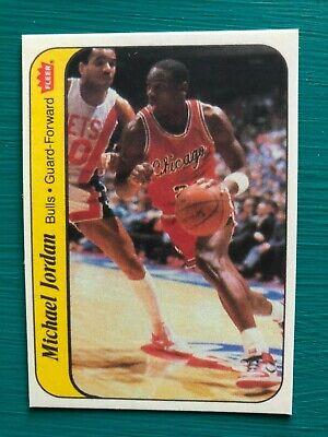 1986-1987 Fleer Michael Jordan Bulls Basketball Reprint Rookie Sticker Card #8