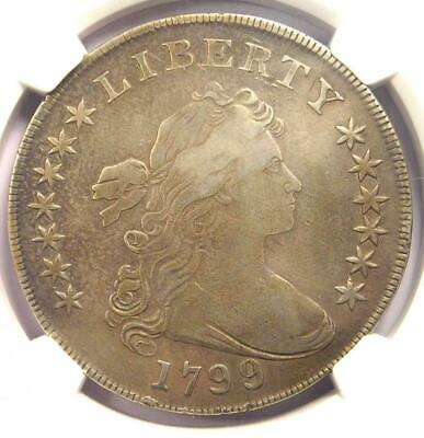 1799/8 Draped Bust Silver Dollar $1 - Certified NGC VF Details - Rare Overdate!