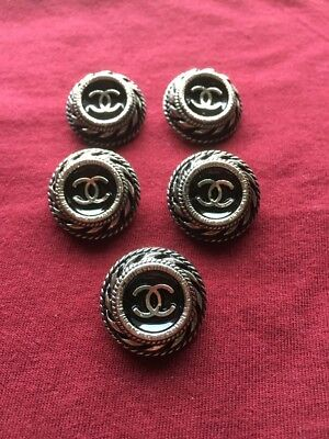 Chanel buttons, set of 5