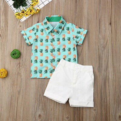 Toddler Kids Baby Boy Clothes Boys Outfits Sets Short T-Shirt + Pants Tops US