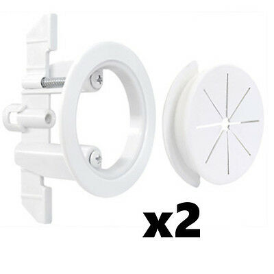 "2 Pack Set Midlite Speedport 2"" Cable Pass Thru Wall Anchor White MID2024Wx2"