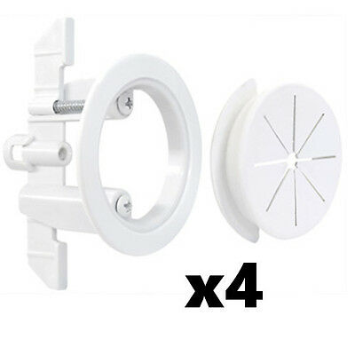 "4 Pack Set Midlite Speedport 2"" Cable Pass Thru Wall Anchor White MID2024Wx4"