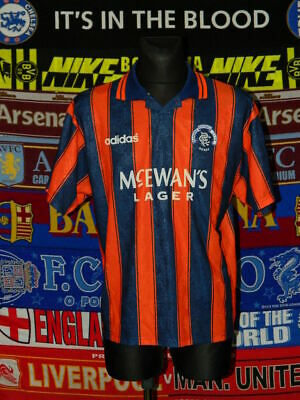 "4.5/5 Rangers adults L 42""-44"" 1993 away football shirt jersey trikot"