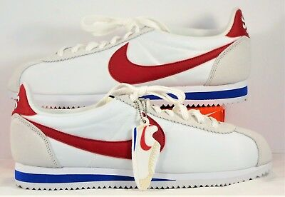 size 40 fc657 65365 NIKE CLASSIC CORTEZ AW QS Forrest Gump White & Red Royal Sz 10.5 NEW 847709  164