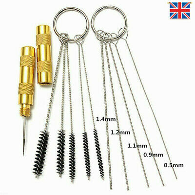 11pcs Airbrush Cleaning Needle & Brush Accessories Kit for Spray Gun Cleaner