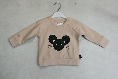 Baby Girl Size 0,1,2 Huxbaby Winter Tearose Mouse Jumper NWT