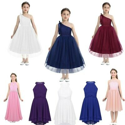 Flower Girl Dresses Princess Floral Long Gown Wedding Party Pageant Bridesmaid