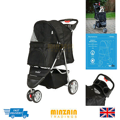 PET STROLLER DOG PUPPY CAT PUSHCHAIR ACCESSORY BUGGY TOY CARRIER TRAVEL New