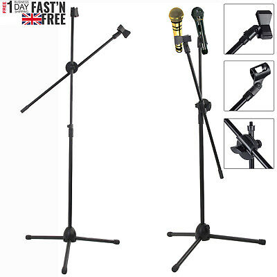 High Quality Professional Boom Microphone Mic Stand Holder Adjustable Black UK P