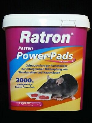 Ratron Pasten Power-Pads 29 ppm 3000 g (200 x15 g)  Rattengift Rattenköder Nager