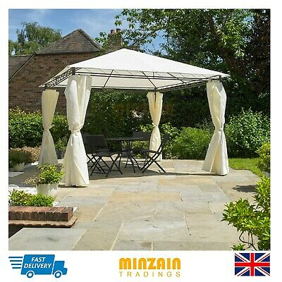 Heavy Duty Outdoor Garden Gazebo Party Tent Wedding Marquee Awning Cream