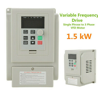 1.5kW Single Phase Speed Control Variable Frequency Drive Inverter AC220V 8A VFD