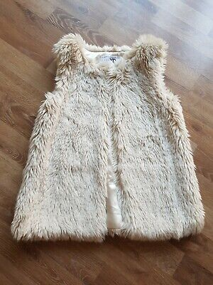 YD ( primark) Girls Fur Gillet, 9-10 years