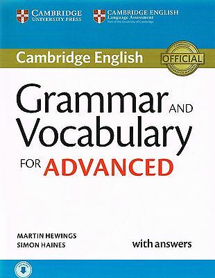 Cambridge English GRAMMAR AND VOCABULARY FOR ADVANCED CAE with Answers 2015 USED