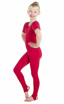 SALE ITEMS  Lycra Catsuit Short Sleeve Plain Front - Ballet Colours (#HOLLY)