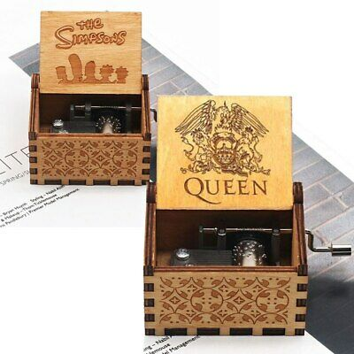 Wooden Hand-cranked Music Box Bohemian Rhapsody Game Of Thrones Present Love
