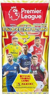 10x Panini Premier League 2019/20 Adrenalyn XL Booster Packs (10 Packs Supplied)