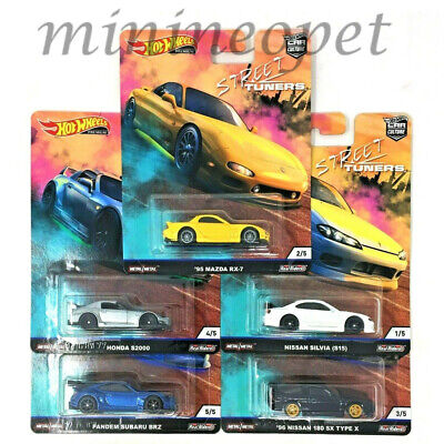 Hot Wheels Fpy86-956L Culture L 2019 Street Tuners Nissan Honda 1/64 Set Of 5