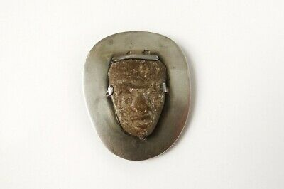 Small Sculpture Pre-columbian Terracotta Face Jewellery Coll. Van Leyden