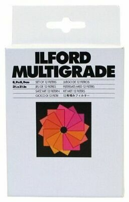 "Ilford Multigrade Set of 12 Gelatin Filters 3.5 x 3.5"" (1762628)"