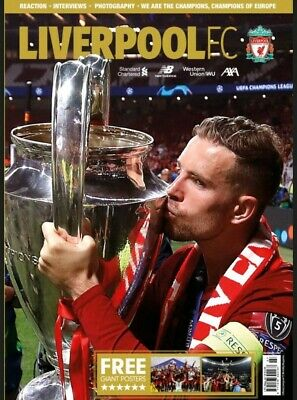 LIVERPOOL FC OFFICIAL MAGAZINE July 2019 LFC CHAMPIONS OF EUROPE brand new mint