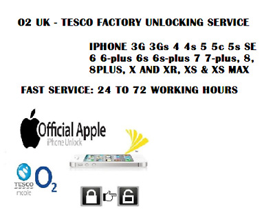 Fast O2 Tesco Giffgaff Uk Service Iphone 3Gs 4 4S 5 5S Se 6 6+ 6S+ 7 7+ 8 8+ X
