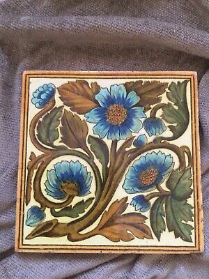 Beautiful Victorian Arts and Crafts Antique Tile
