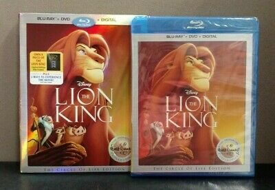Authentic Disney: The Lion King (Blu-ray+DVD+Digital w/Slipcover)   BRAND NEW