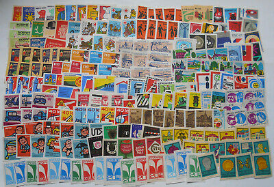 More Than 200 Czechoslovakian Matchbox Labels from 1967