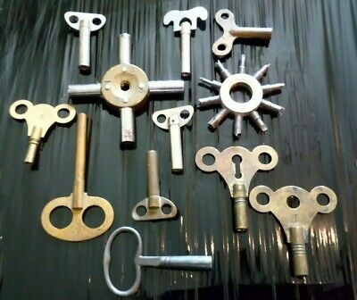 Collection Of Watch and Clock Keys.