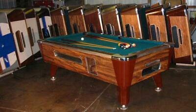 Valley Cougar Bar Size Commercial 7' Coin-Operated Pool Table.  Refurb In Green