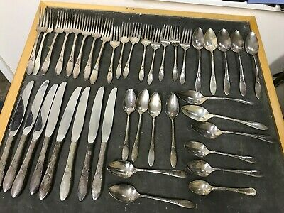Job Lot Cutlery Silver Plate Antique