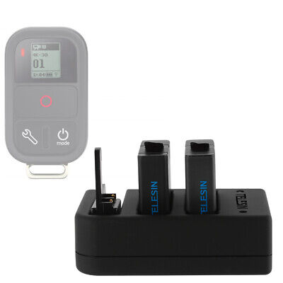 Multifunctional Charger + Dual Battery for GoPro Hero 4 5 6 WiFi Remote OS970