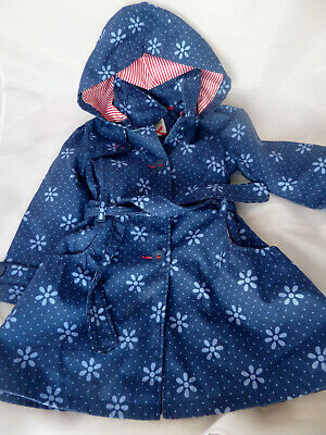 BHS Sweet Millie Blue Hooded coat mac size 5 years - mid season coat