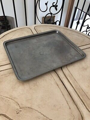 Vintage Cosi Tabellini pewter Large Tray/ Vanity/ Bar Tray With Stamp Hallmarks