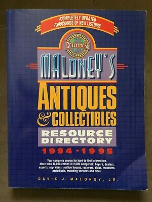 Lot of 2 Maloney's Antiques and Collectibles Research Books 6th & 1994-1995