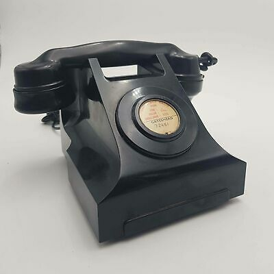 Vintage 1950's UK GPO 322CB Black Bakelite Telephone (Converted)