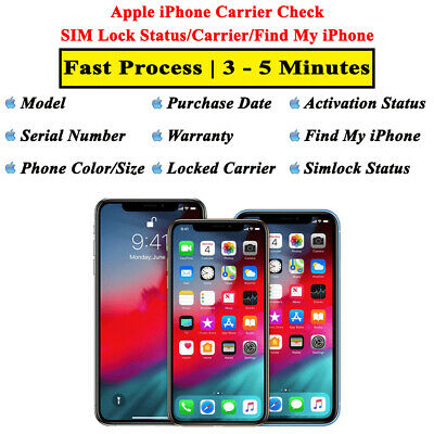 Apple iPhone Carrier Check SIM Lock Status/Carrier/Find My iPhone