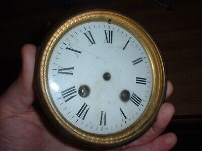 French Japy Freres Clock Movement Dial Hands Beveled Crystal 1800'S Parts Repair