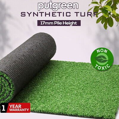 10-100SQM Synthetic Turf Artificial Grass Plastic Plant Fake Lawn Flooring 17mm