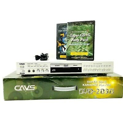 CAVS Super CD+G Karaoke Player DVD-203G With Box Power Cable and 2 CDs No remote