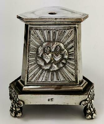 French Silver Plate Lion Paw Crucifix Base First Half 19Th Century