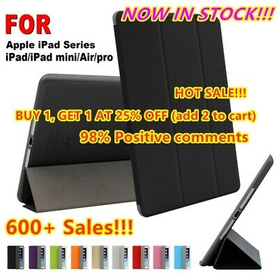 For iPad 7th 10.2 9.7 Air 10.5 2019 Smart Slim Magnetic Leather Stand Case Cover
