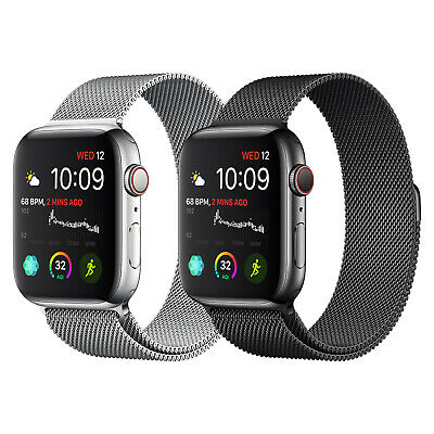 Magnetic Stainless Steel Loop iWatch Band Strap For Apple Watch 5/4/3 42/40/44mm