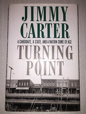 President JIMMY CARTER & ROSALYNN Auto Signed Book TURNING POINT w/COA *RARE*