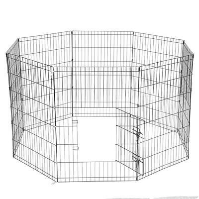 "36"" Tall Wire Fence Pet Dog Folding Exercise Yard 8 Panel Metal Playpen"